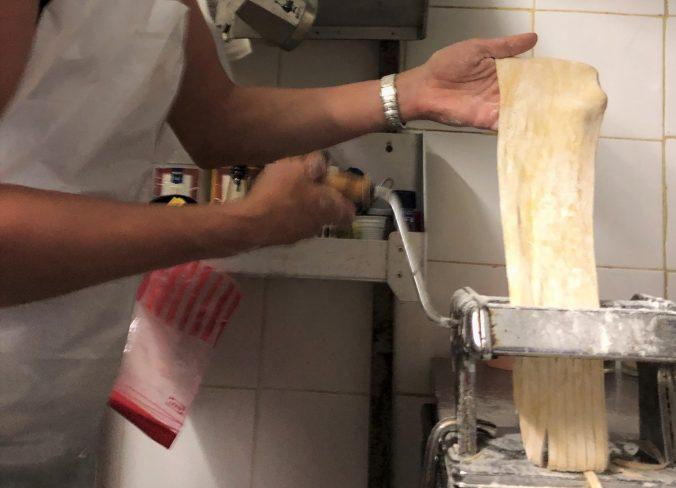 Pastateig in der Osteria