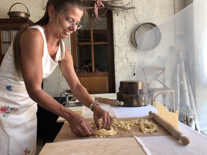 Pasta im Weingut