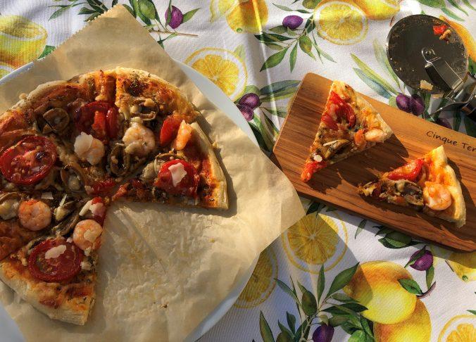 Italienische Pizza vom Grill