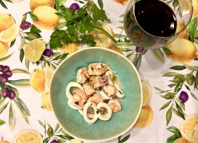 Zitronenmeeresfrüchte