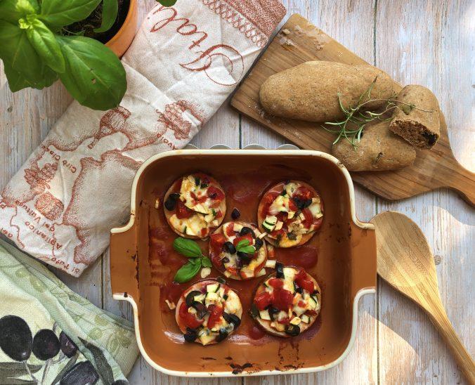 Pizzette die Melanzane