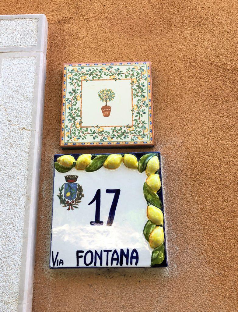 Hausnummer Limone